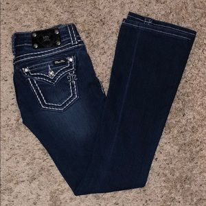 Miss Me saddle stitch boot cut jeans